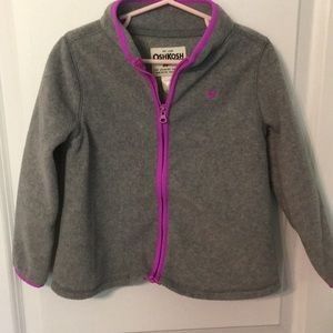 Oshkosh 5t Gray and purple zip up fleece